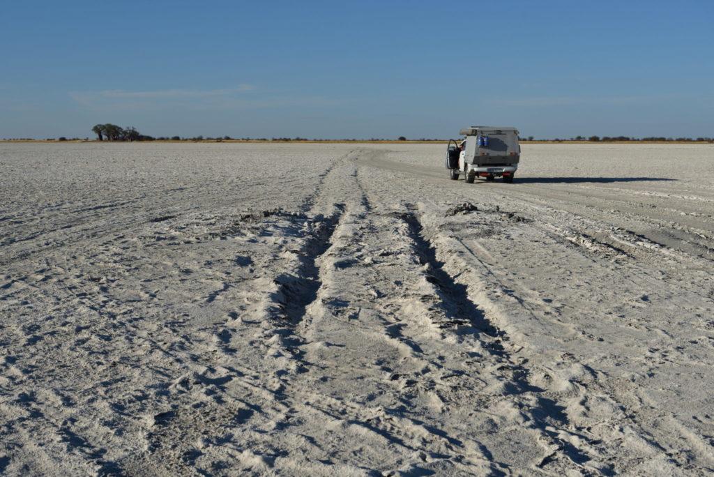 Makgadikgadi Salzpfannen bei Baines Baobabs