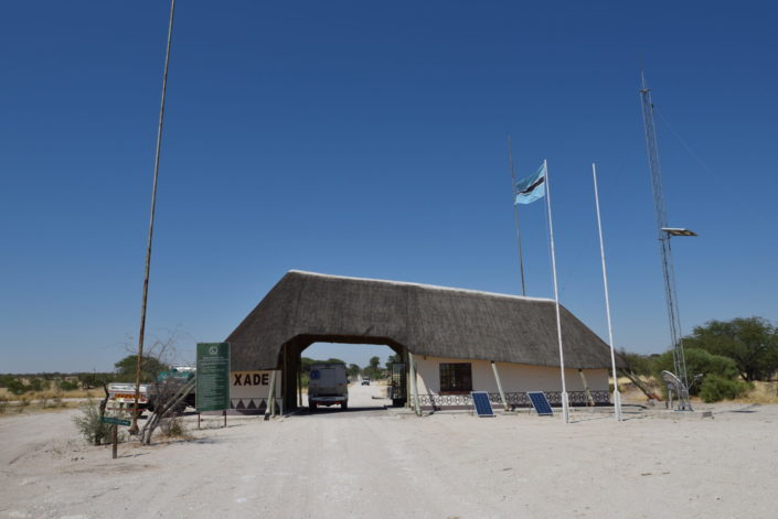 CKGR Central Kalahari Game Reserve: Xade Gate