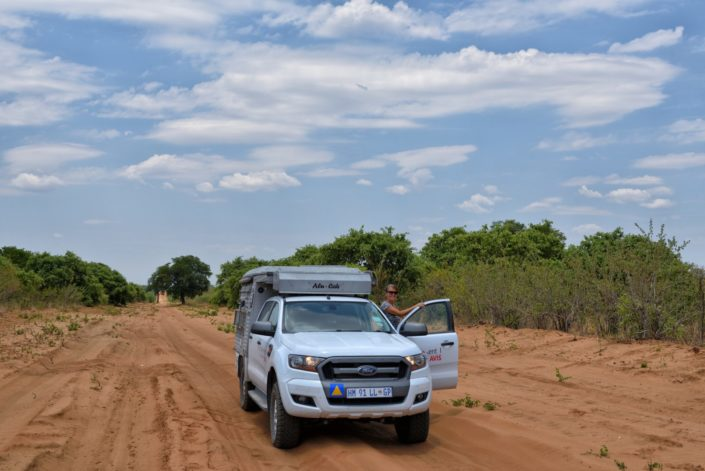 Doris auf dem Weg zur Chobe River Front