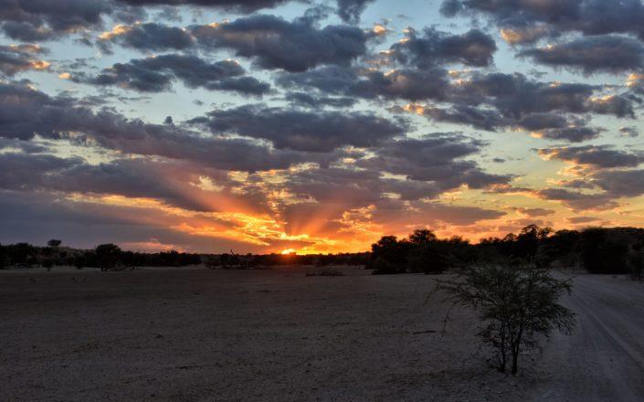 Sonnenaufgang im Auob Tal