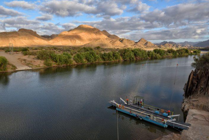 Fährbetrieb am Oranje River