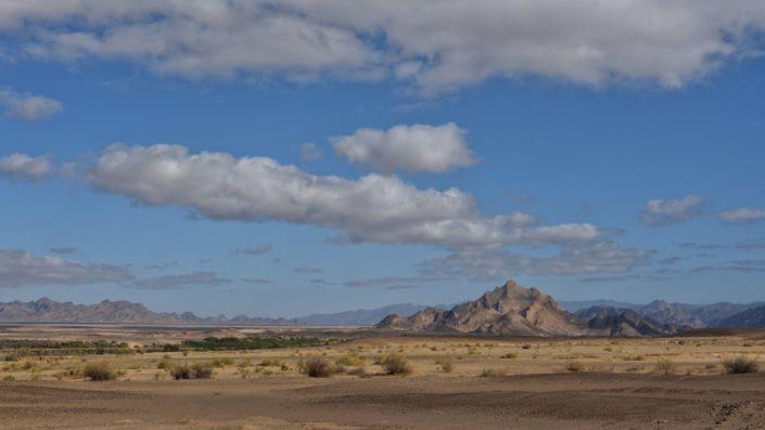 Wolken über dem Oranje River