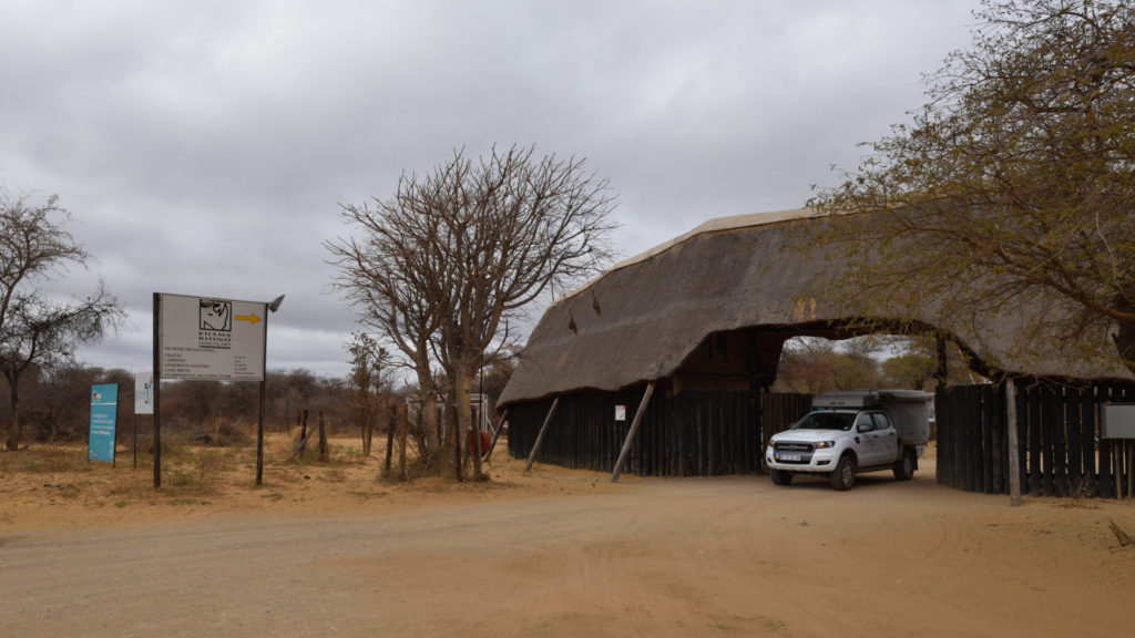 Ausfahrt Khama Rhino Sanctuary