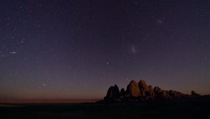 Die riesige Sua Pan unter dem Sternenhimmel