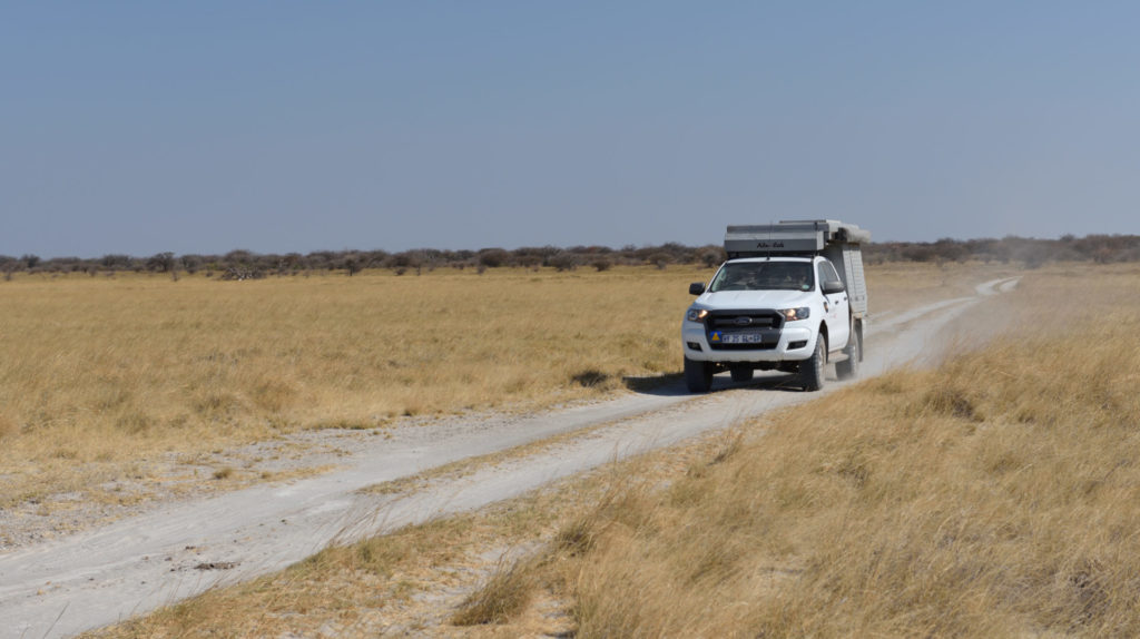 Ford Ranger auf dem Weg nach Kubu Island