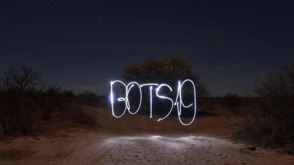 BOTS19 mit Taschenlampe gezeichnet