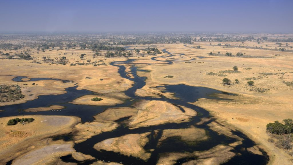 Okavango Delta aus dem Flugzeug