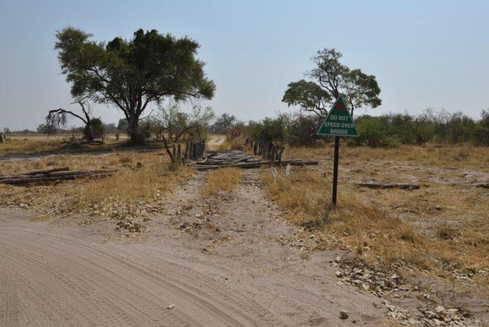 First Bridge im Moremi Game Reserve ohne Wasser