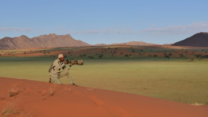 Andrew, ein Ranger im NamibRand Nature Reserve